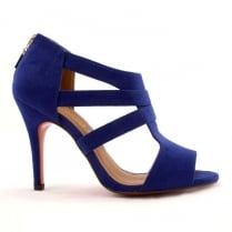 Kate Appleby Hampshire Blue Suede T-Bar Heeled Sandal
