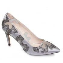 Lunar Rebecca Grey Embellished Evening Heels