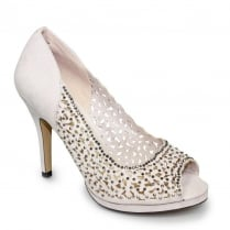 Lunar Margo Nude Peep Toe Evening High Heels
