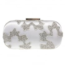 Lunar Womens Rebecca Grey Clutch Bag