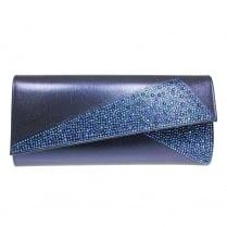 Lunar Womens Imogen Blue Clutch Bag - ZLR452