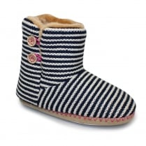 Lunar Womens Candy Bootee Blue Slippers