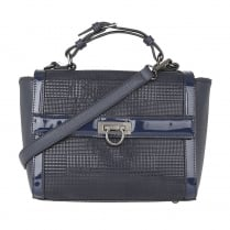Lotus Hennie Navy Print Front Handbag