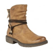 Lotus Relife Busby Tan Leather Mid Calf Boots