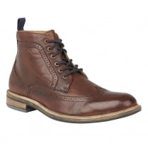 Lotus Mens Aldridge Brown Leather Lace Up Ankle Boots