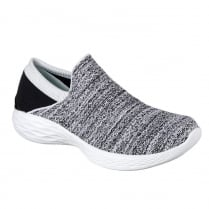 Skechers Womens YOU White/Black Sneakers