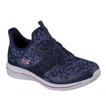 Skechers Womens Burst 2.0 Game Changing Navy Sneakers