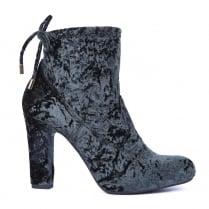 Unisa PAULE Slate Suede Block Heeled Ankle Boots