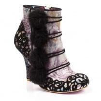 Irregular Choice Slumber Party Black Heeled Ankle Boots