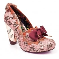 Irregular Choice Bubbles Gum Pink Court Charm Heels
