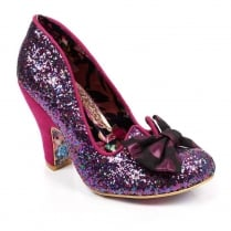 Irregular Choice Nick of Time Pink Glitter Court Heels