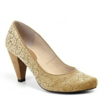 Ruby Shoo Leah Court Heels - Gold