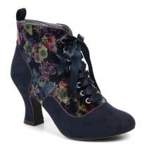 Ruby Shoo Bailey Heeled Boots - Navy