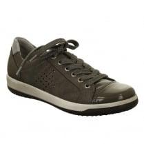 Jenny by Ara Flat Grey Lace Up Shoe