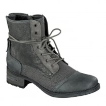 Mustang Womens Graphite Lace Up Ankle Boots