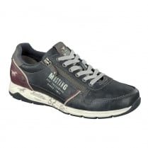 Mustang Mens Navy Side-Zip Trainer Shoes