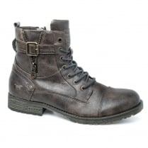 Mustang Mens Brown Lace Up Ankle Boots