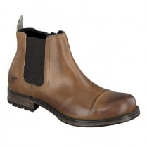 Mustang Mens Tan Chelsea Boots