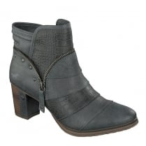 Mustang Womens Graphite Heeled Ankle Boots