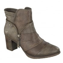 Mustang Womens Medium Brown Heeled Ankle Boots