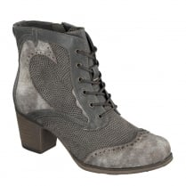 Mustang Womens Dark Grey Wild West Ankle Boots