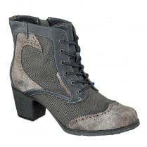 Mustang Womens Navy/Grey Wild West Ankle Boots