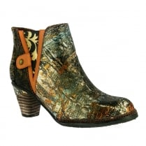 Laura Vita Womens Alizee Bronze Ankle Boots