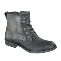 Mustang Ladies Grey Lace up Ankle Boot