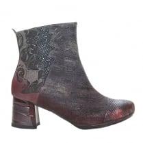 Maciejka Womens Charme Pink/Grey Ankle Boots