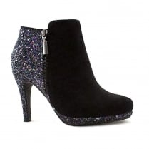 Kate Appleby Hessle Black Suede/Glitter Stiletto Ankle Boots
