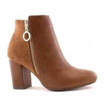 Kate Appleby Lodden Tan Block Heel Ankle Boots