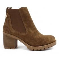 Carmela Tan Suede Chelsea Ankle Boots