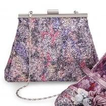 Joe Browns Marietta Purple Glitter Clutch Bag