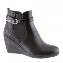 Susst Ashs Black Wedge Heeled Ankle Boots