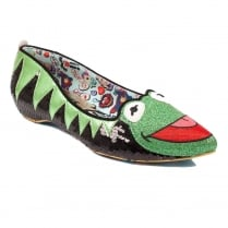 Irregular Choice Muppets - Kermit The Frog Slip On Flats