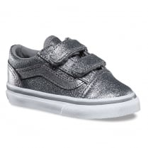 Vans Toddlers Glitter Metallic Old Skool Velcro Shoes