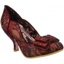 Irregular Choice Ladies First Bordo Floral