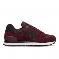 New Balance Womens 574 Winter Nights Bordo Suede Sneakers