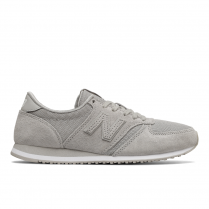 New Balance Womens 420 Grey Mesh Suede Sneakers
