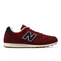 New Balance Mens Running 373 Burgundy/Navy Sneakers