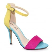 Lunar Corby Turquoise Multi Ankle Strap Heeled Sandals