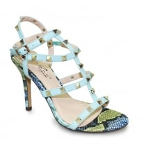 Lunar Turquoise Carlita Gladiator Stiletto Sandals *PRICE?*