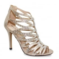 Lunar Dorado Gold Strap Stiletto Heel Sandals