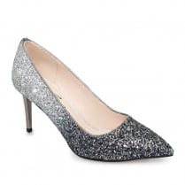 Lunar Dusk Pewter Glitter Pointed Toe Court