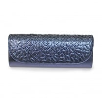 Lunar Denton ZLC111 Blue Rhinestone Detailing Clutch Bag