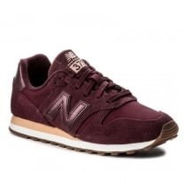 New Balance Womens 373 Burgandy/Peach Suede Sneakers