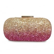 Lunar Dusk ZLR475 Pink/Gold Clutch Handbag