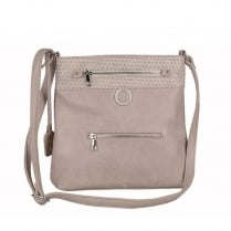 Rieker Ladies Beige Rose Messenger Shoulder Strap Bag
