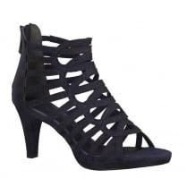 Marco Tozzi Navy Elegant Strappy High Heeled Sandals
