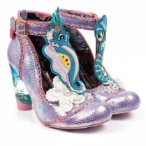 Irregular Choice Barnacle Betty Purple Embroidered T-bar Court Heels